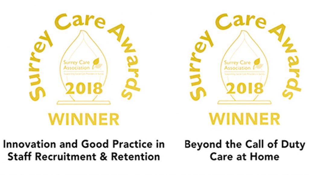 Surrey Care Awards 2018 Winner awards
