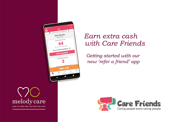 Care Friends brochure and app