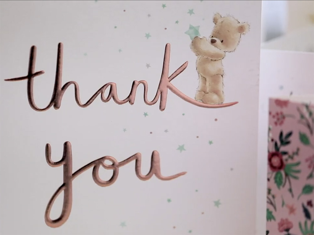 Thank you cards from grateful clients